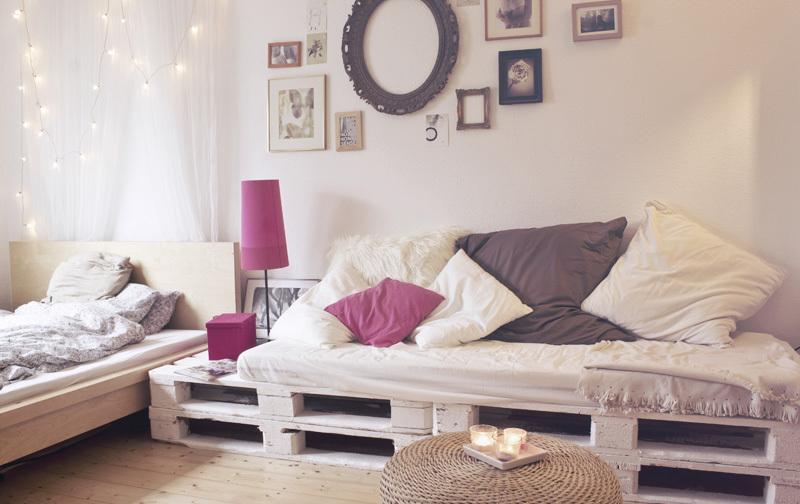 Mobili Con Pallet Tutorial : Divano con i pallet costruire un divano con i bancali idee