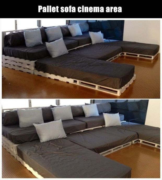 ... con i pallet: Costruire un divano con i bancali... 20 idee fai da te