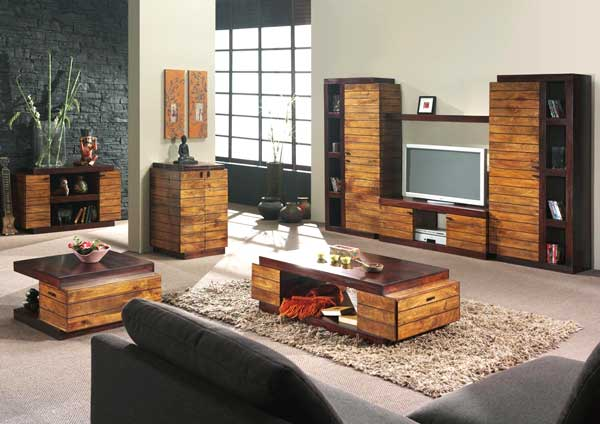 abbinare legno nel salone 20 idee per arredare il salone. Black Bedroom Furniture Sets. Home Design Ideas