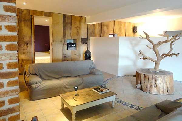 Abbinare legno nel salone