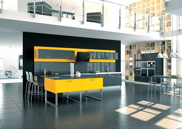 arredare con il giallo un colpo di sole dentro casa. Black Bedroom Furniture Sets. Home Design Ideas