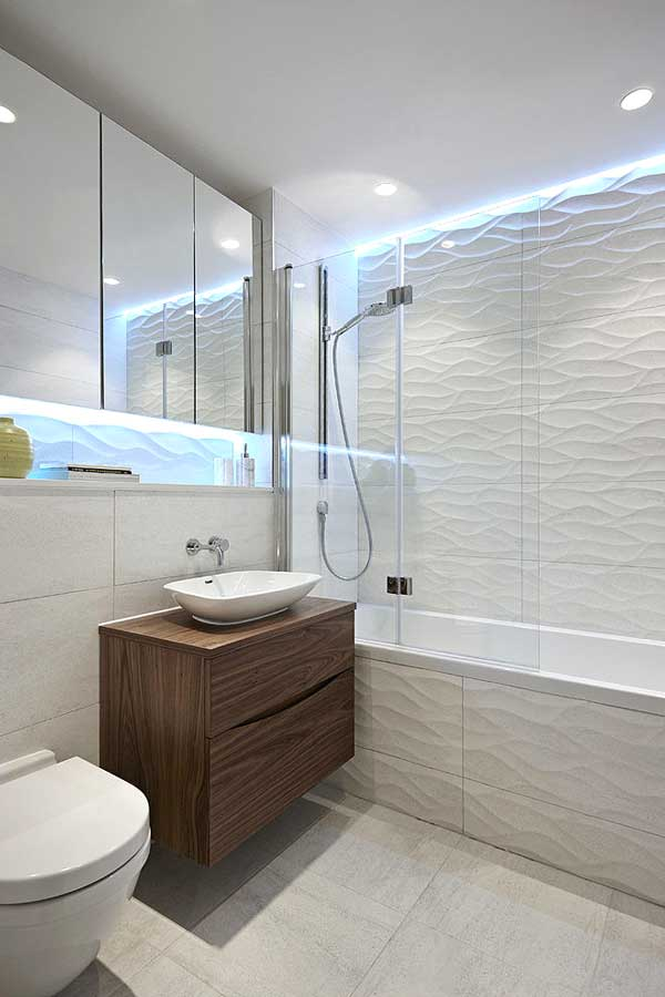 bathroom furniture with led