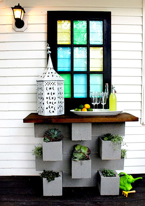 Decorare con blocchi di cemento 17 idee creative per la casa for Idee di design per la casa