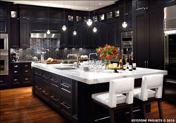 bellissima cucina nera