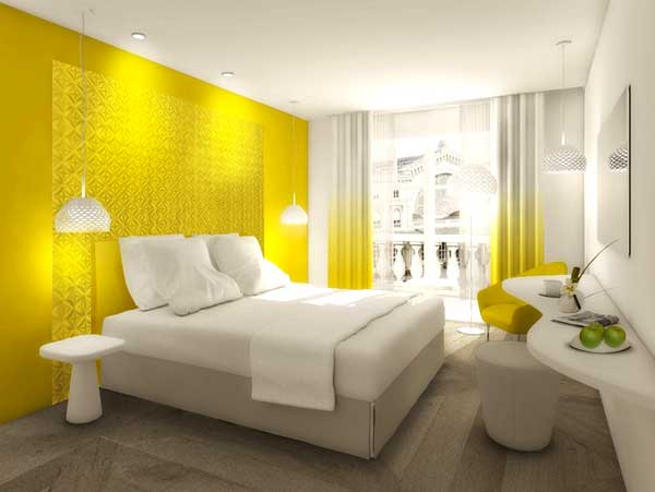 Arredare con il giallo un colpo di sole dentro casa - Arredare parete camera da letto ...