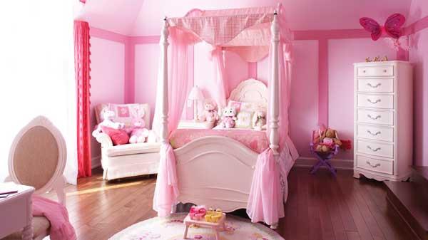 Idee cameretta bimba arredare una bella cameretta rosa - Idee per pitturare una cameretta ...