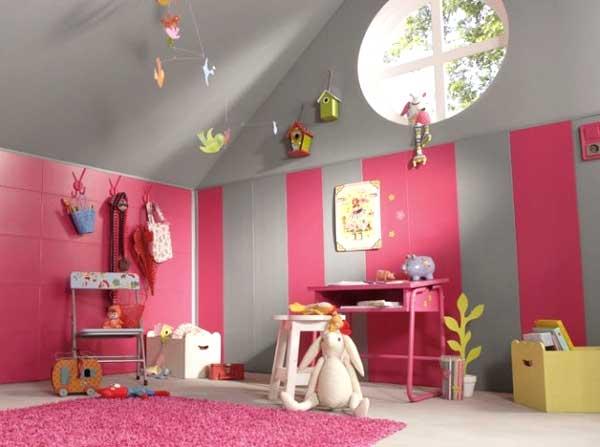 cameretta rosa grigio bimba