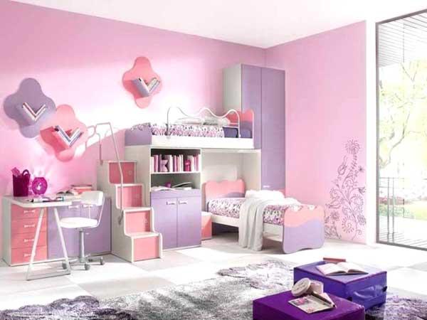cameretta rosa e viola