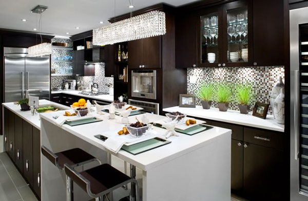 Idea design cucina bianca e nero, le foto