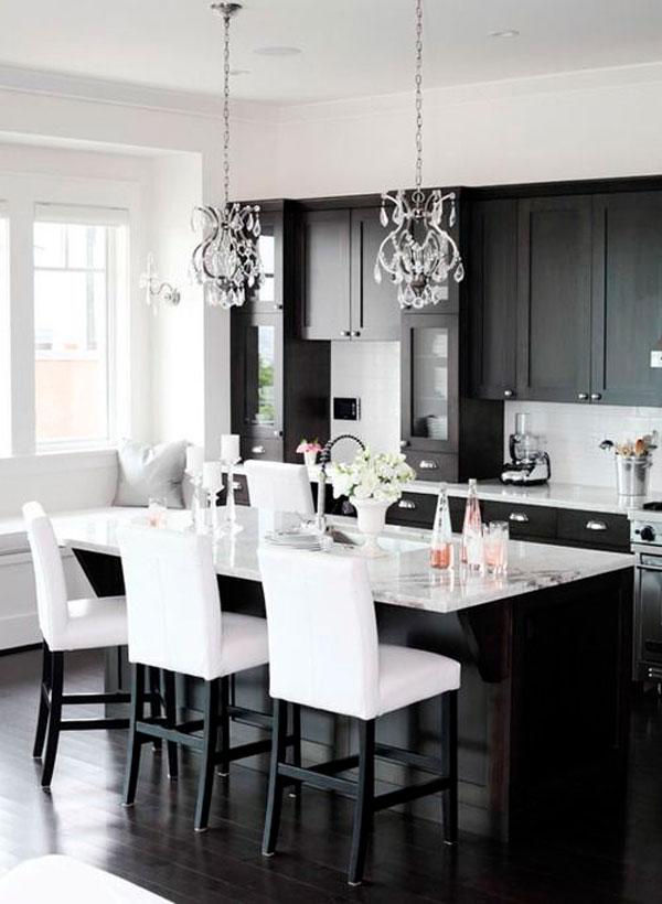 Idea design cucina bianca e nero le foto - Idea design casa ...
