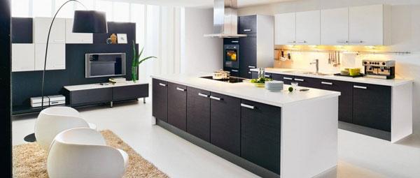 Idea design cucina bianca e nero le foto for Ameublement traduzione