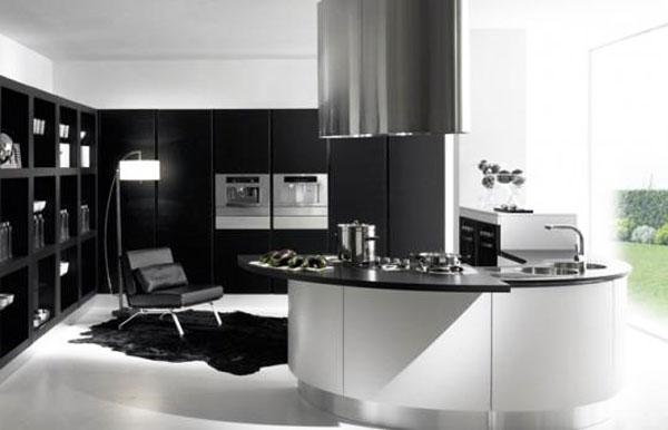Idea design cucina bianca e nero le foto - Cucine moderne da sogno ...