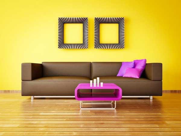 idee per un salone giallo