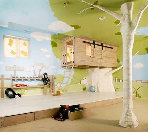 decorazione soffitto camera bambino