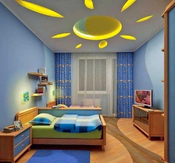 Preferenza Decorazione soffitto camera da bambino. 27 idee! YR87