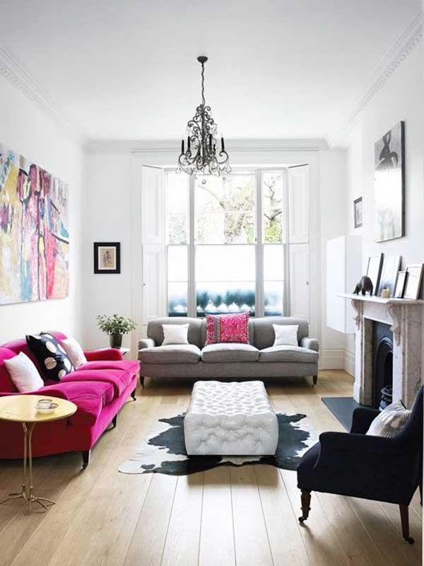abbinare divano fuxia