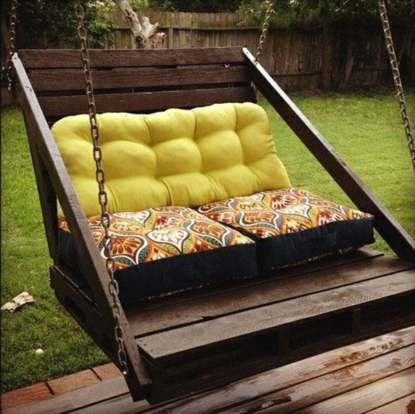 dondolino cuscini verde