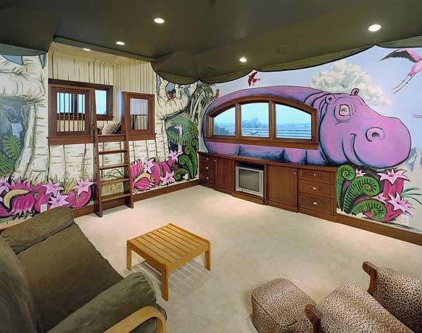 Idee Per Rivestimento Bagno Foto : Decorazione soffitto camera da bambino idee