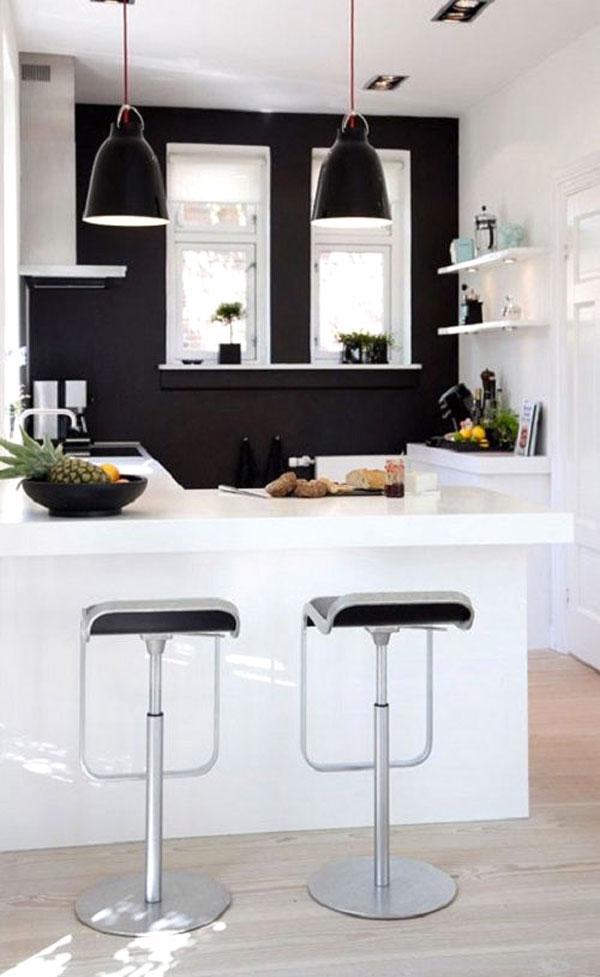 cucina bianca e nero