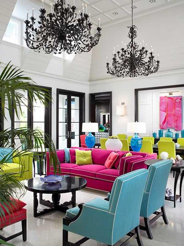 idea salone colorato