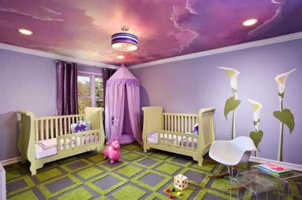 Decorazione soffitto camera da bambino. 27 idee!