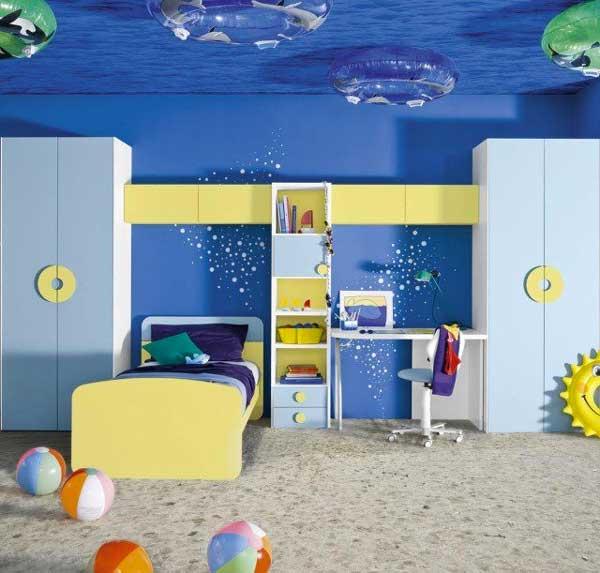 Decorazione soffitto camera da bambino 27 idee - Chambre enfant marin ...