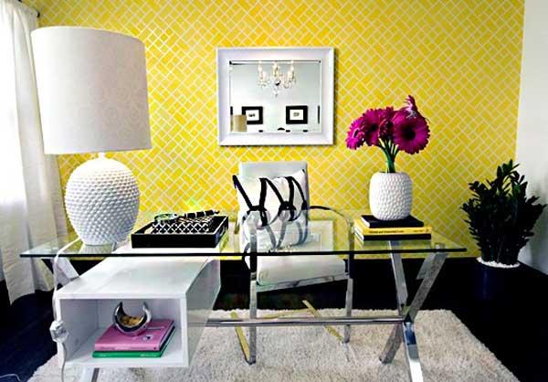 Arredare con il giallo un colpo di sole dentro casa for Idee per arredare un ufficio