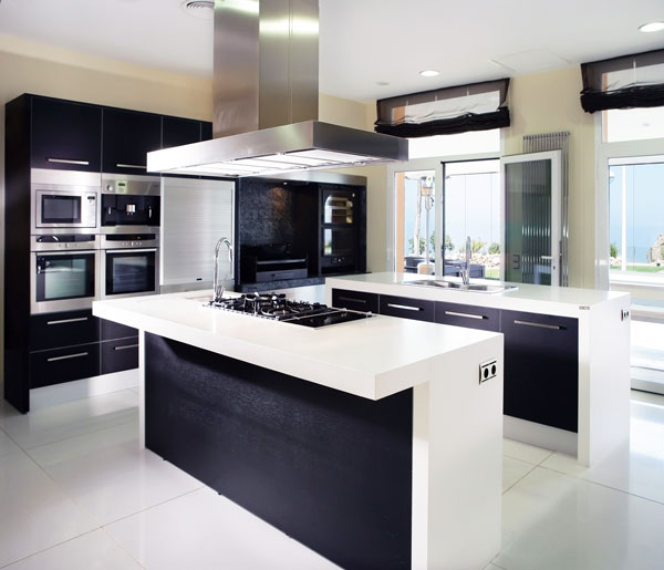 isola cucina bianca