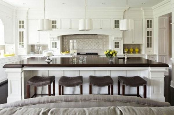 isola cucina bianco e nero