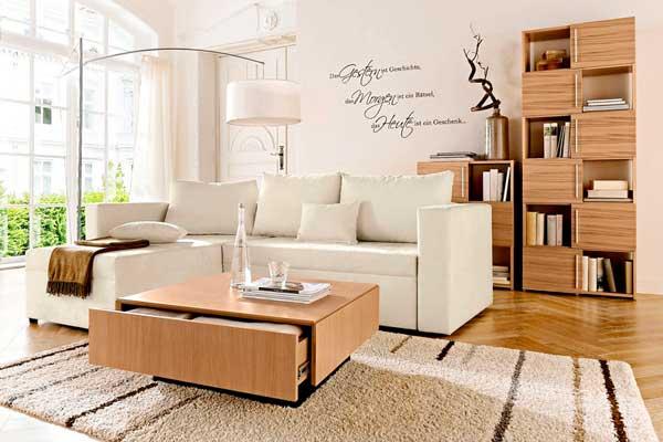 idee salone bianco e legno