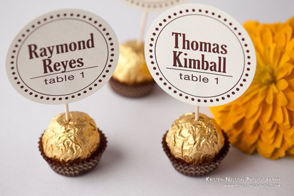 segnaposti cioccolatini