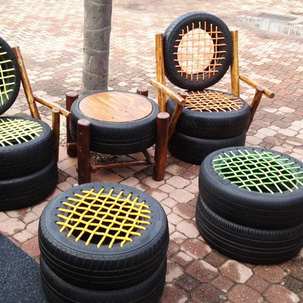 set giardino pneumatici