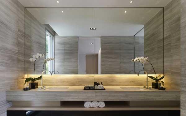 Arredo bagno led illuminare il bagno con i led - Specchio bagno incassato ...
