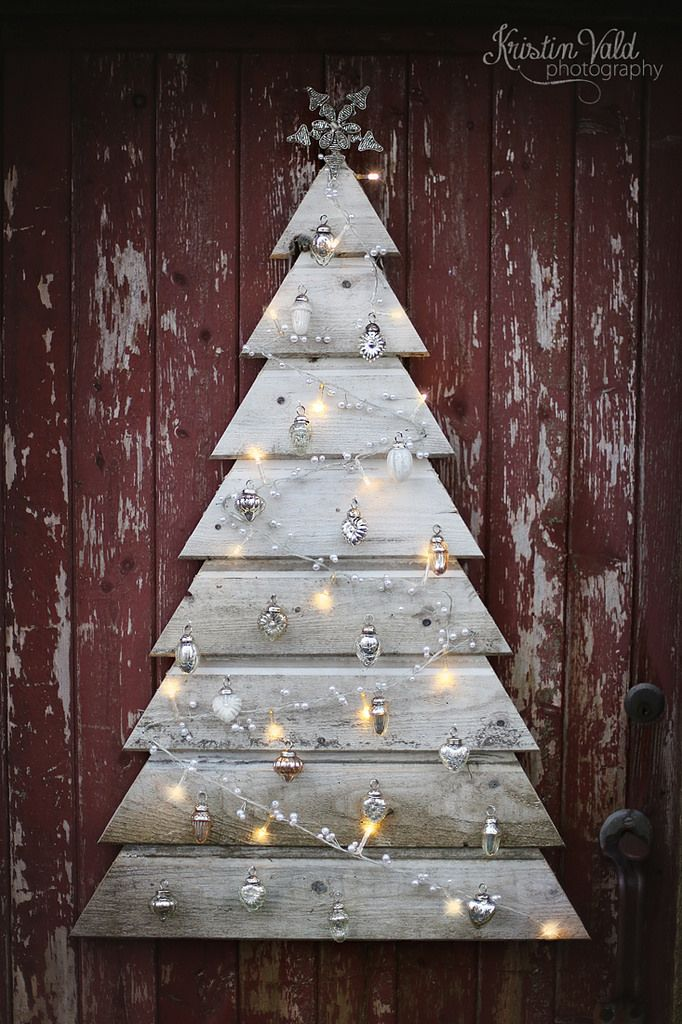 Christmas tree with pallet ... 20 DIY ideas very original