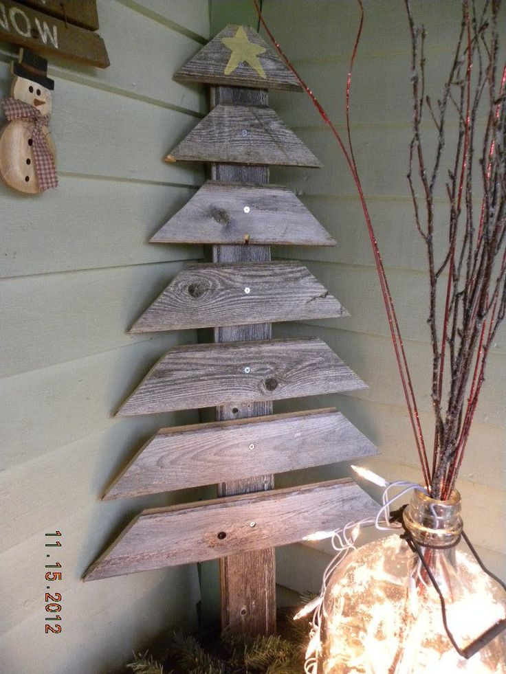 diy christmas tree 7 pallet - Pallet Christmas Decoration Ideas