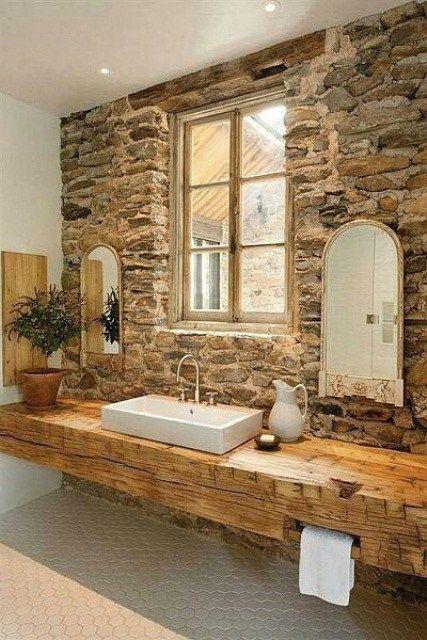 Bagno stile rustico 20 idee per un bellissimo bagno rustico - Rivestimento bagno rustico ...