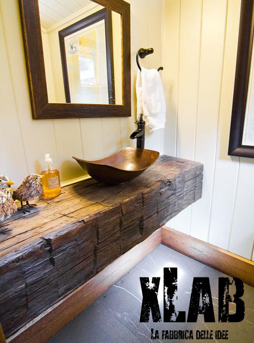 Bagno stile rustico 20 idee per un bellissimo bagno rustico for Piani di casa rustico lodge