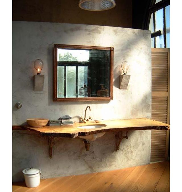 Bagno stile rustico 20 idee per un bellissimo bagno rustico for Lavandino leroy merlin