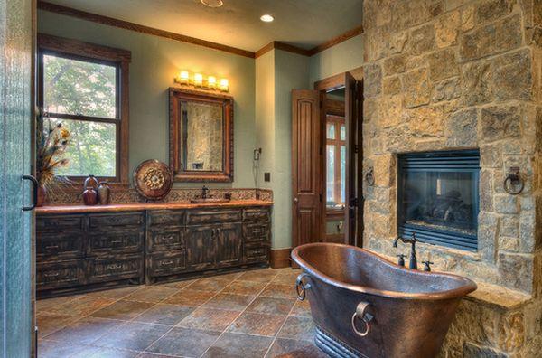 Bagno stile rustico 20 idee per un bellissimo bagno rustico for Bathroom interior design indian style