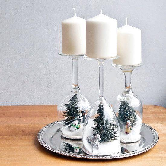 Bicchieri creativi 27 creazioni originali con i bicchieri for Pinterest cuisine noel