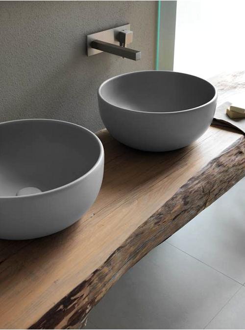 piano lavabo in legno massello idea n 1