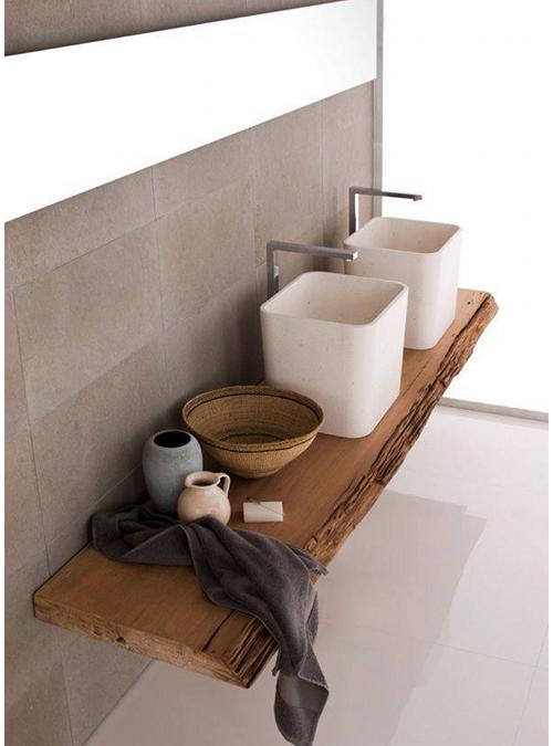 piano lavabo in legno massello 4