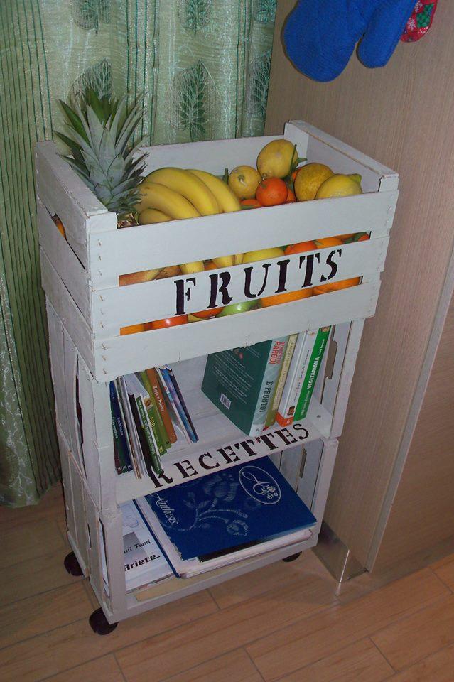 Riciclo creativo cassette della frutta in stile shabby - Idee per decorare una stanza ...