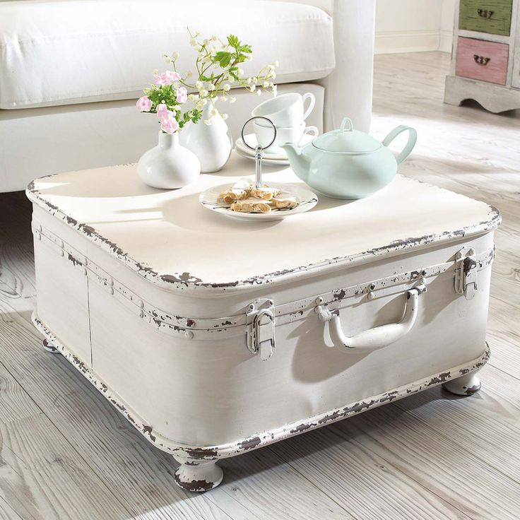 Diy Shabby Chic Coffee Table: Valigia Vintage: 23 Idee Creative Per Riciclare Una
