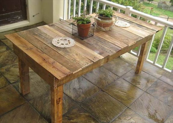 Pallet Kitchen Table And Chairs