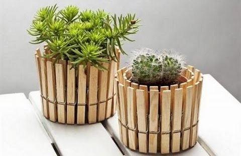 Idea riciclo mollette in legno