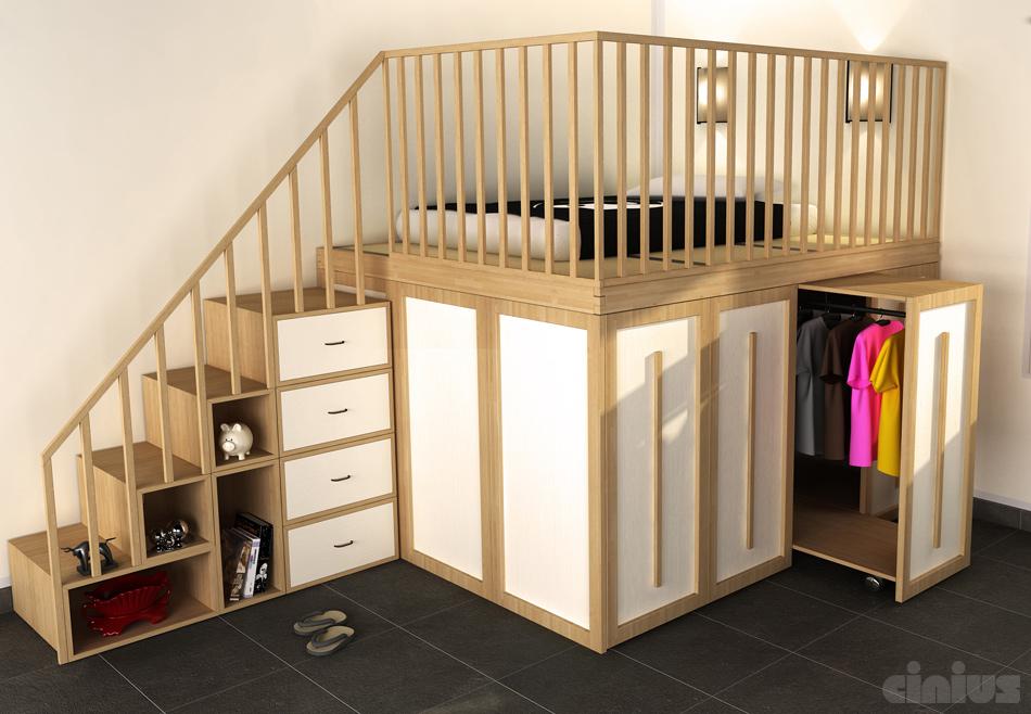 Super letto salvaspazio:6 idee per ottimizzare lo spazio in camera tua TI49