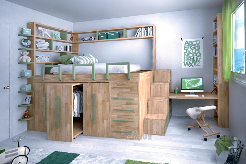 Letto salvaspazio 6 idee per ottimizzare lo spazio in - Idea design casa ...