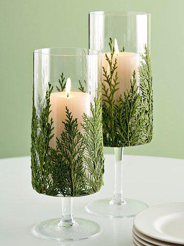 decorazione con ramo di pino 20