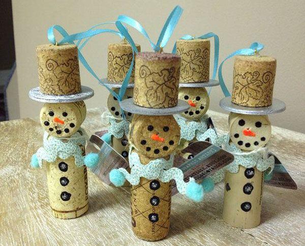 decorazione natalizie con tappi di sughero 9